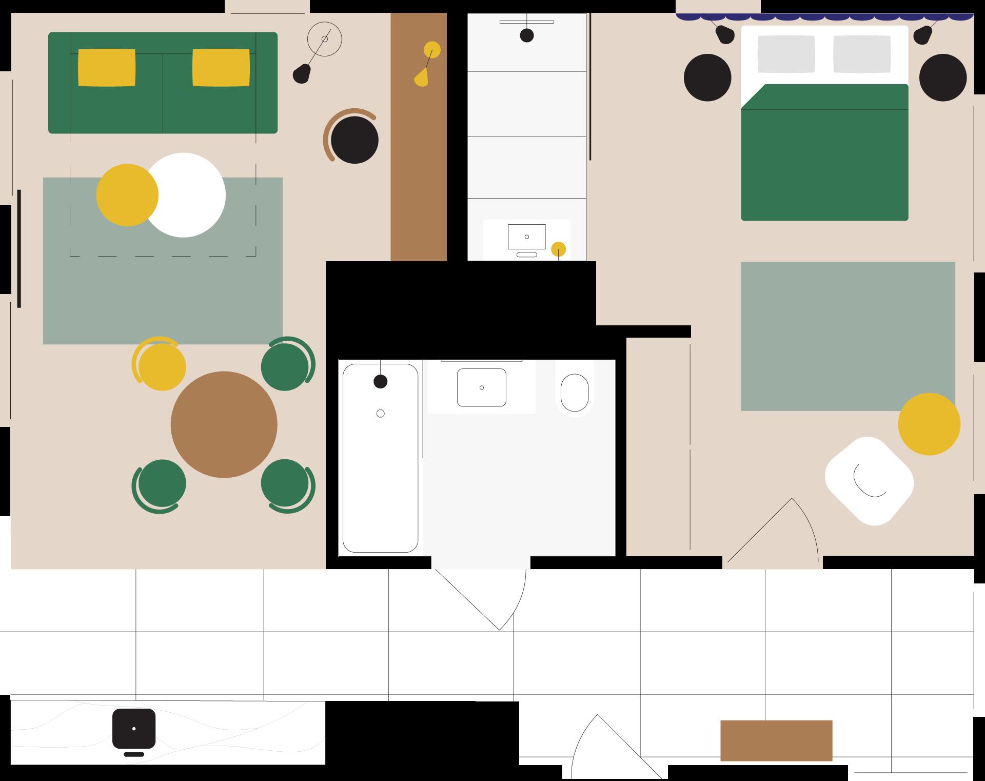 apartament na wynajem delux moderna plan