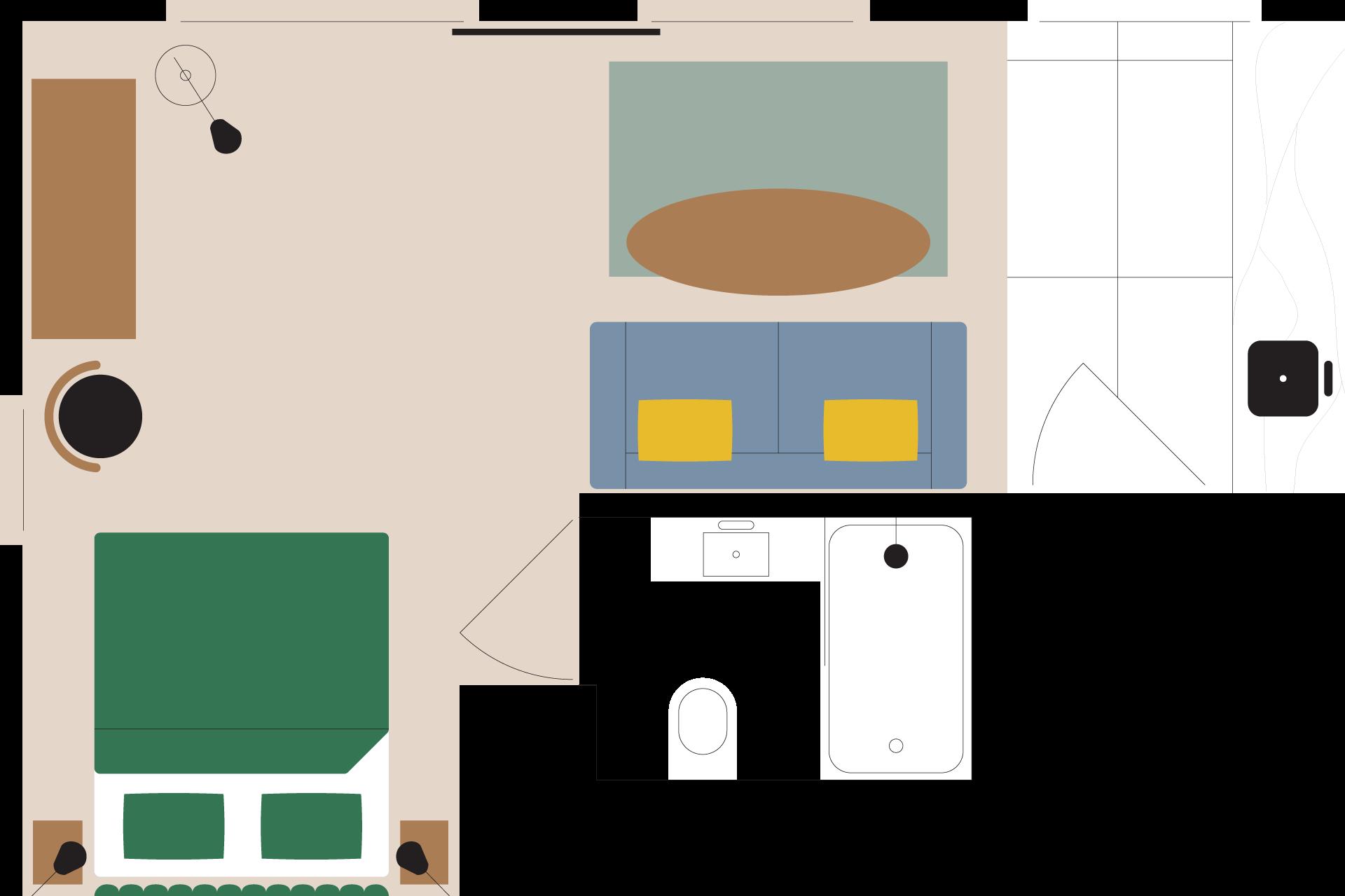 apartament na wynajem forma plan